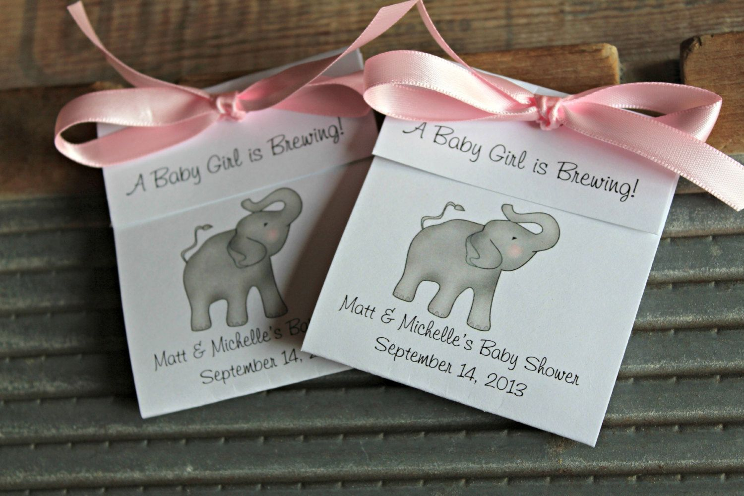 Elephant Tea Bag Favors For Baby Shower Tea Party Favors Baby Girl