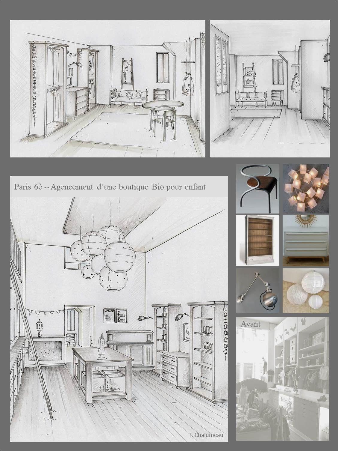 Conception graphique planches tendances plans for Design d interieur dessin