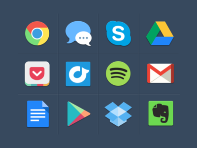 Dribbble - Free Colorful Icons by Michael Dolejs