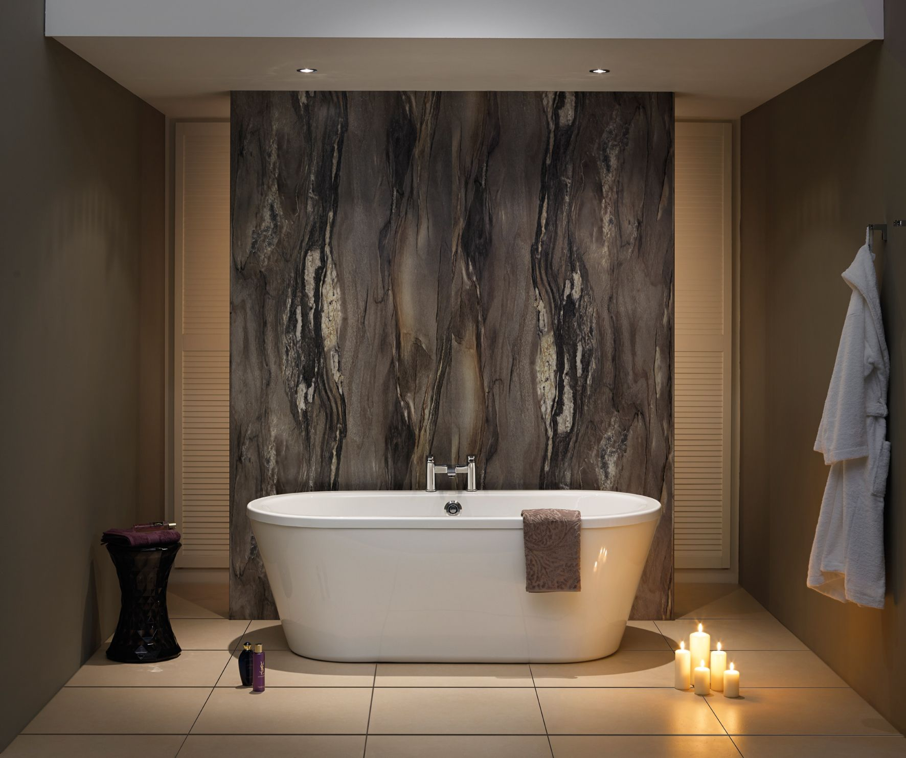 Nuance Laminate Panelling Is An Ideal Alternative To Tiling There Are No Grout Lines To Scrub