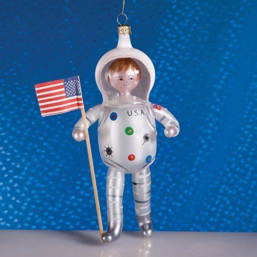 De Carlini Astronaut Man on the Moon Italian Mouthblown Glass ...