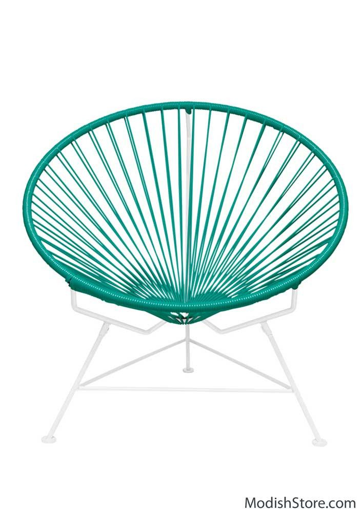 Innit Chair - White Frame Turquoise Weave | # Outdoor furnitures ...