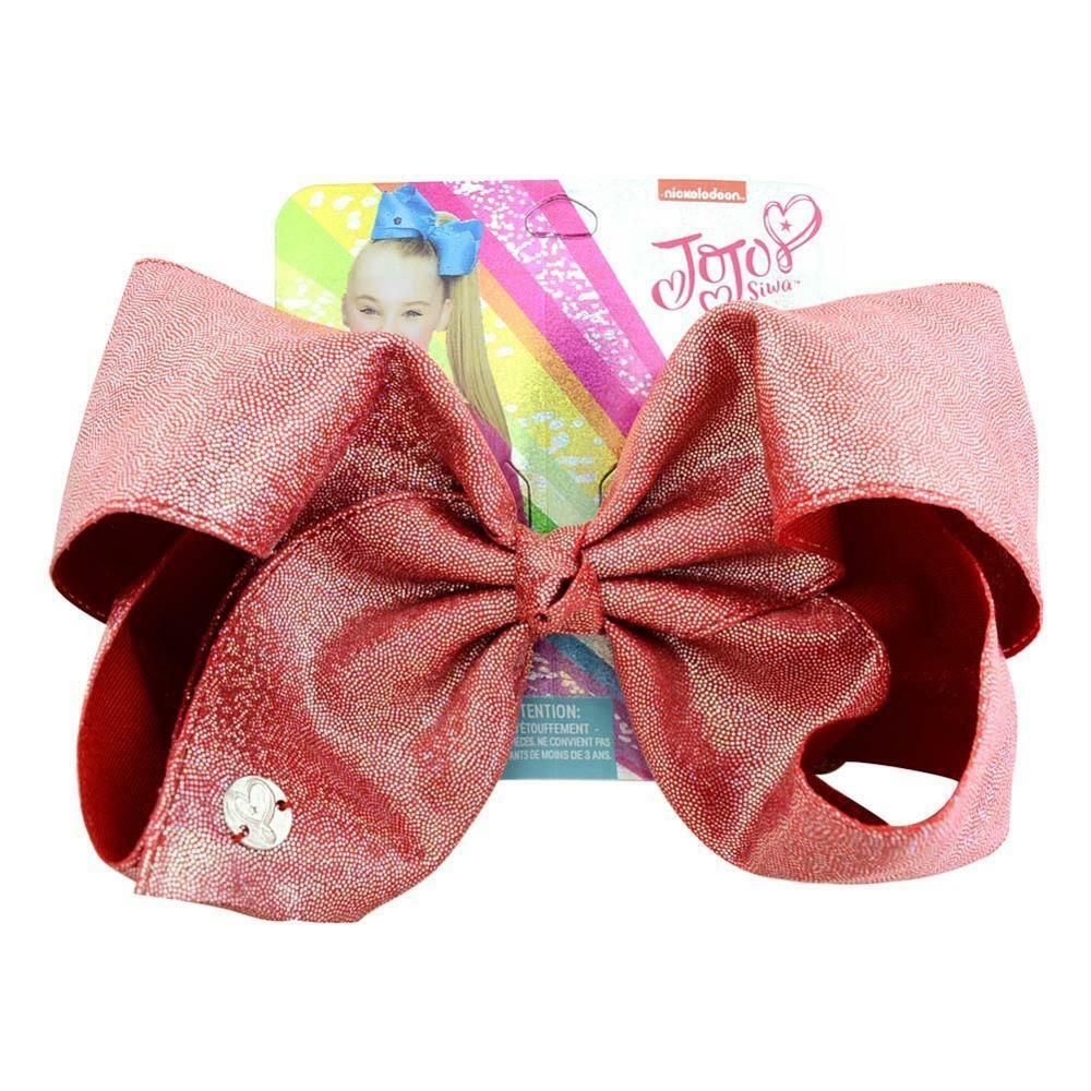8 Inch Glitter Girl Bows Hair Bow withClip Large Ribbon Hairpin Xmas Gift