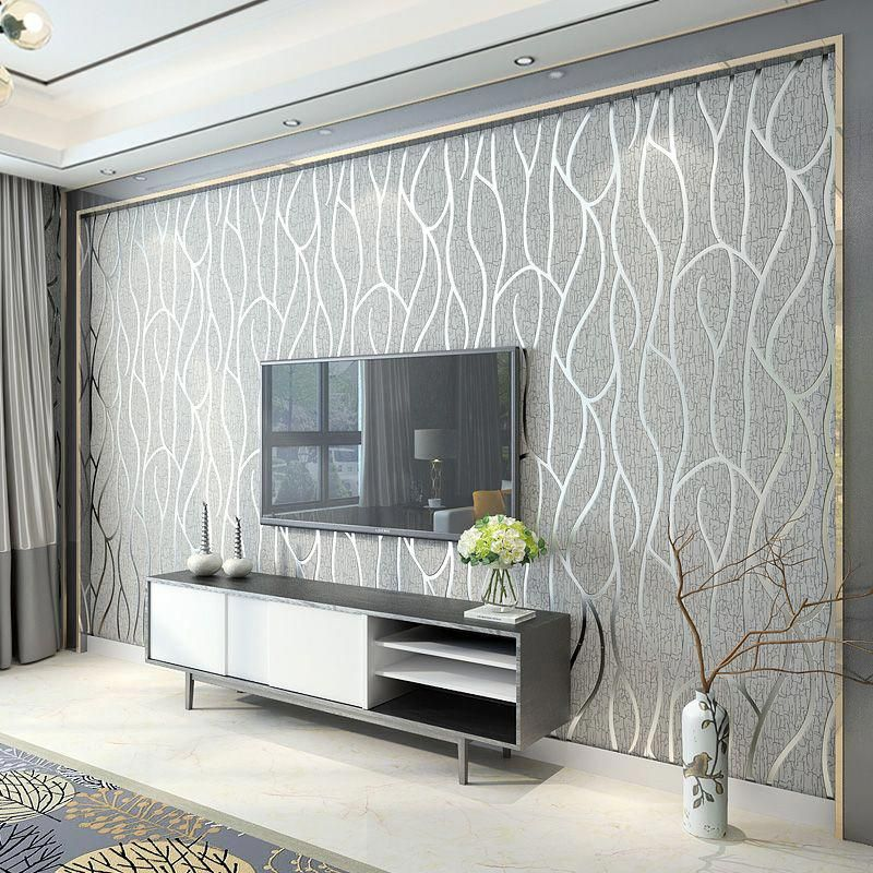 Cheap Wall Covering Buy Quality Wall Paper Living Room Directly From China Striped W Wall Decor Living Room Living Room Decor Elegant Open Concept Living Room #wall #paper #decorations #living #room