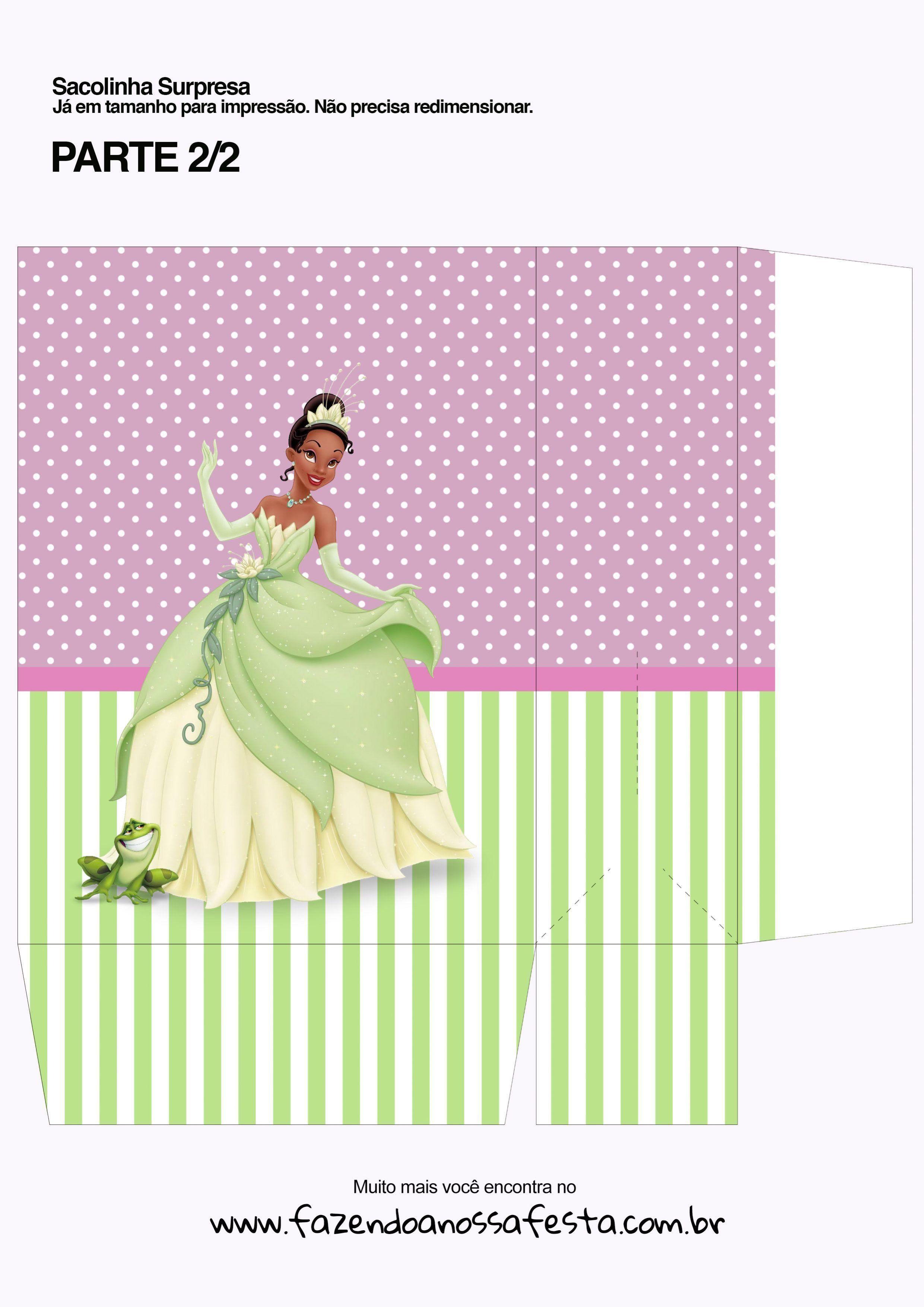 Sacolinha Princesa E O Sapo Princesa Tiana Parte 2 Tiana