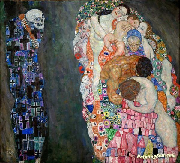 Death and Life Artwork by Gustav Klimt