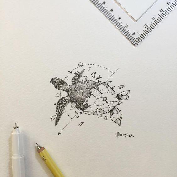 Geometric Beasts Sea Turtle Kerby Rosanes Coloring