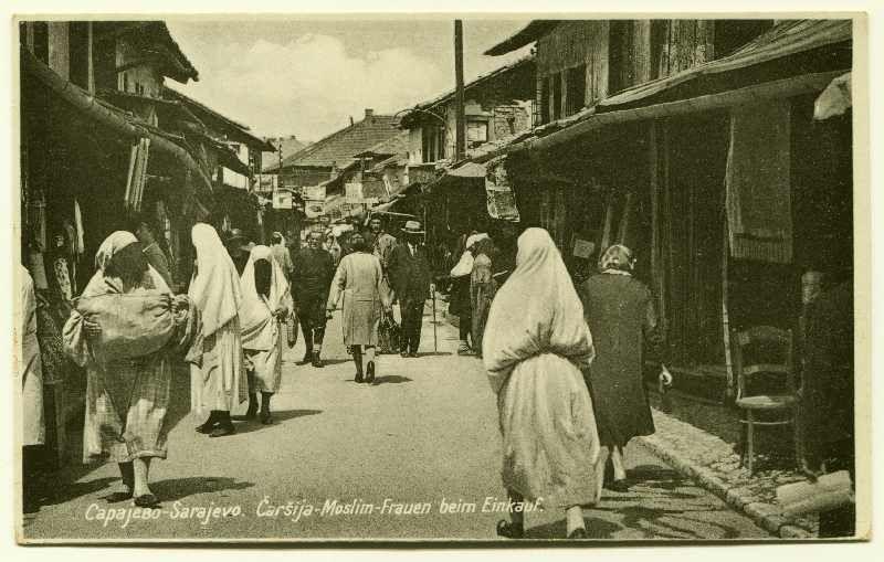 Sarajevo Carsija Muslim Women Go Shopping C Bosniac Institute Adil Zulfikarpasic Foundation Sarajevo Gender Relations Balkan