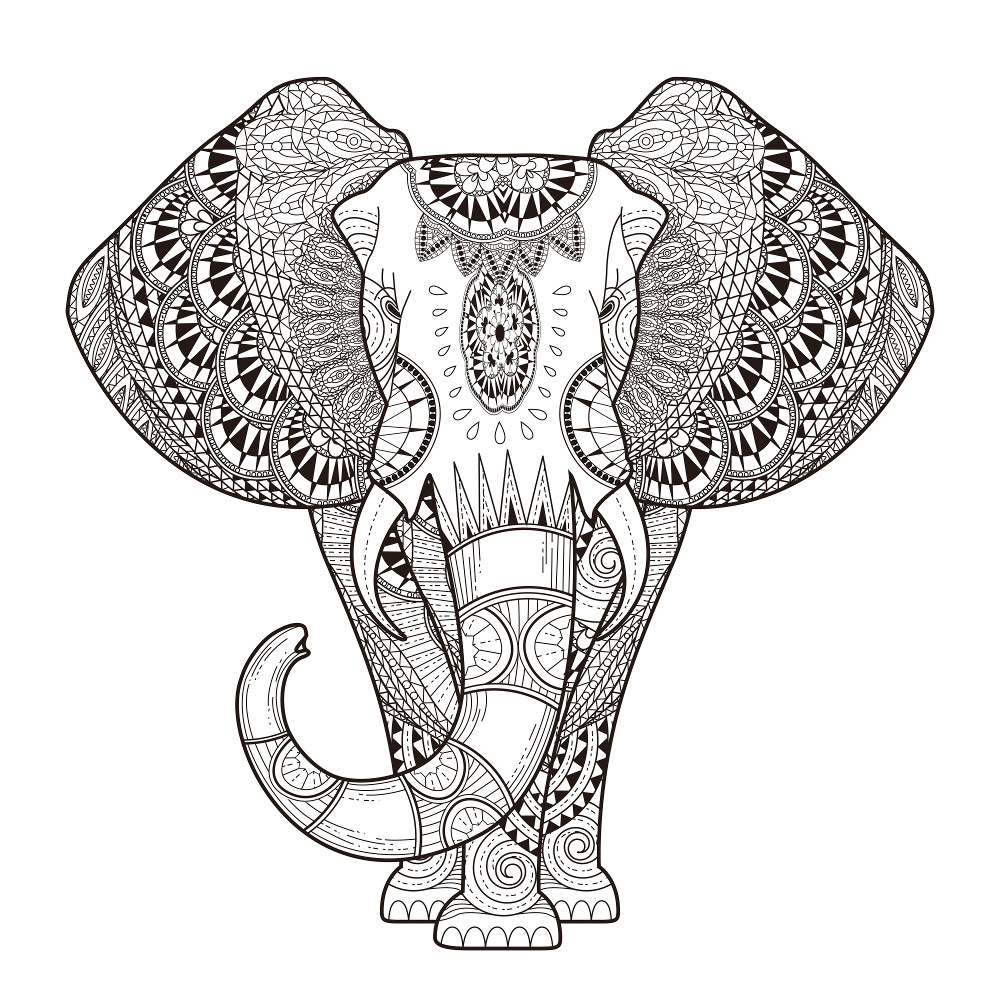 Free Elephant Coloring Pages For Adults To Print Paisley Malvorlagen Malvorlage Eule Mandala Malvorlagen