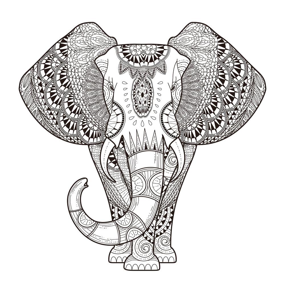 Free Elephant Coloring Pages For Adults To Print Paisley Malvorlagen Malvorlage Eule Mandala Malvorlagen
