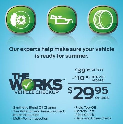 Save On The Works Vehicle Checkup At The Quick Lane At Stuart Powell Now 29 95 After 10 Mail In Rebate Offer Ends Satu Brake Inspection Checkup Oil Blend