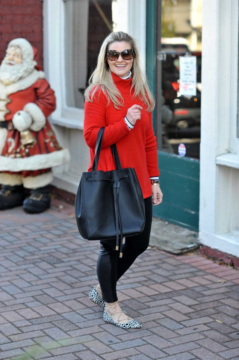 Cute Red Sweater Outfit | Red sweaters, Winter and Peach