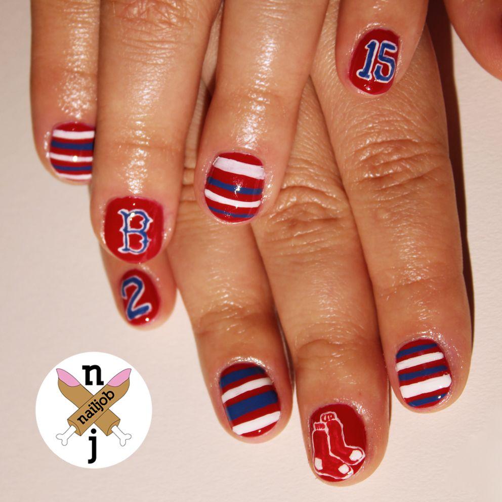 Boston Red Sox Nail Nails Nailart