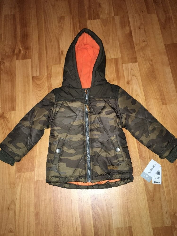 99d76a3b1 Camouflage Winter Coat Carter s Toddler Jacket Size 24 Months