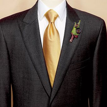 Brooks Brothers - Gold Necktie Groom Style Accessories | Groom ...