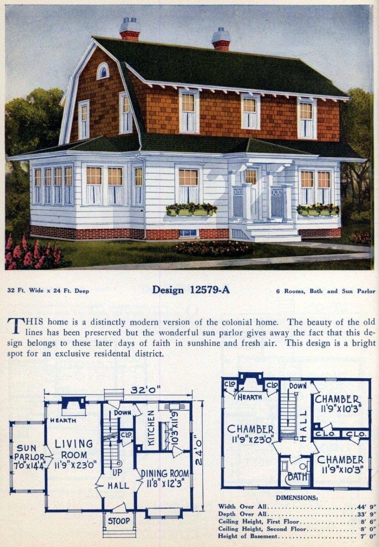 62 Beautiful Vintage Home Designs Floor Plans From The 1920s Home Design Floor Plans Vintage House Plans American Home Design