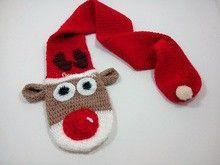 Toddler Reindeer scarf crochet - Pattern 711