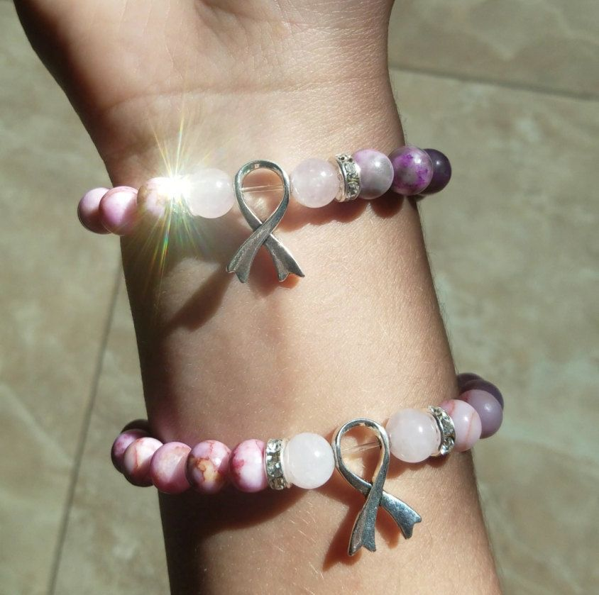 T Cancer Awareness Mala Healing Bracelet Portion Donated To Foundation By Saveserenity