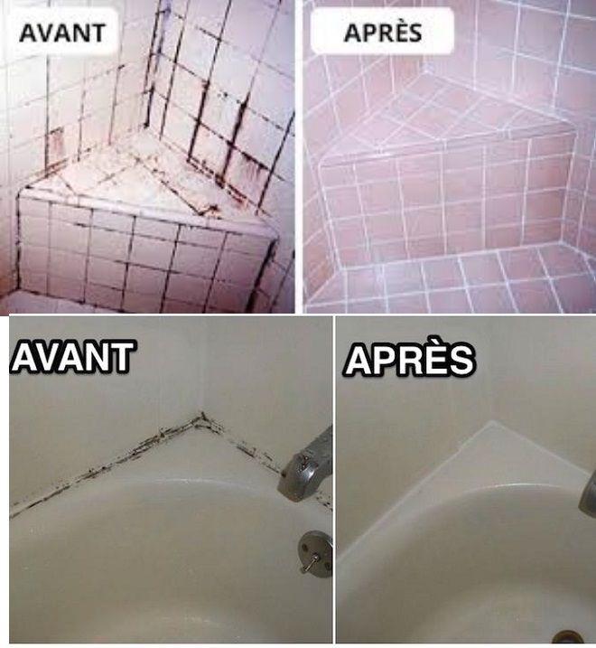 Joint de baignoire astuce g niale pour enlever la moisissure sur les joints de votre baignoire - Astuce pour nettoyer les joints de salle de bain ...