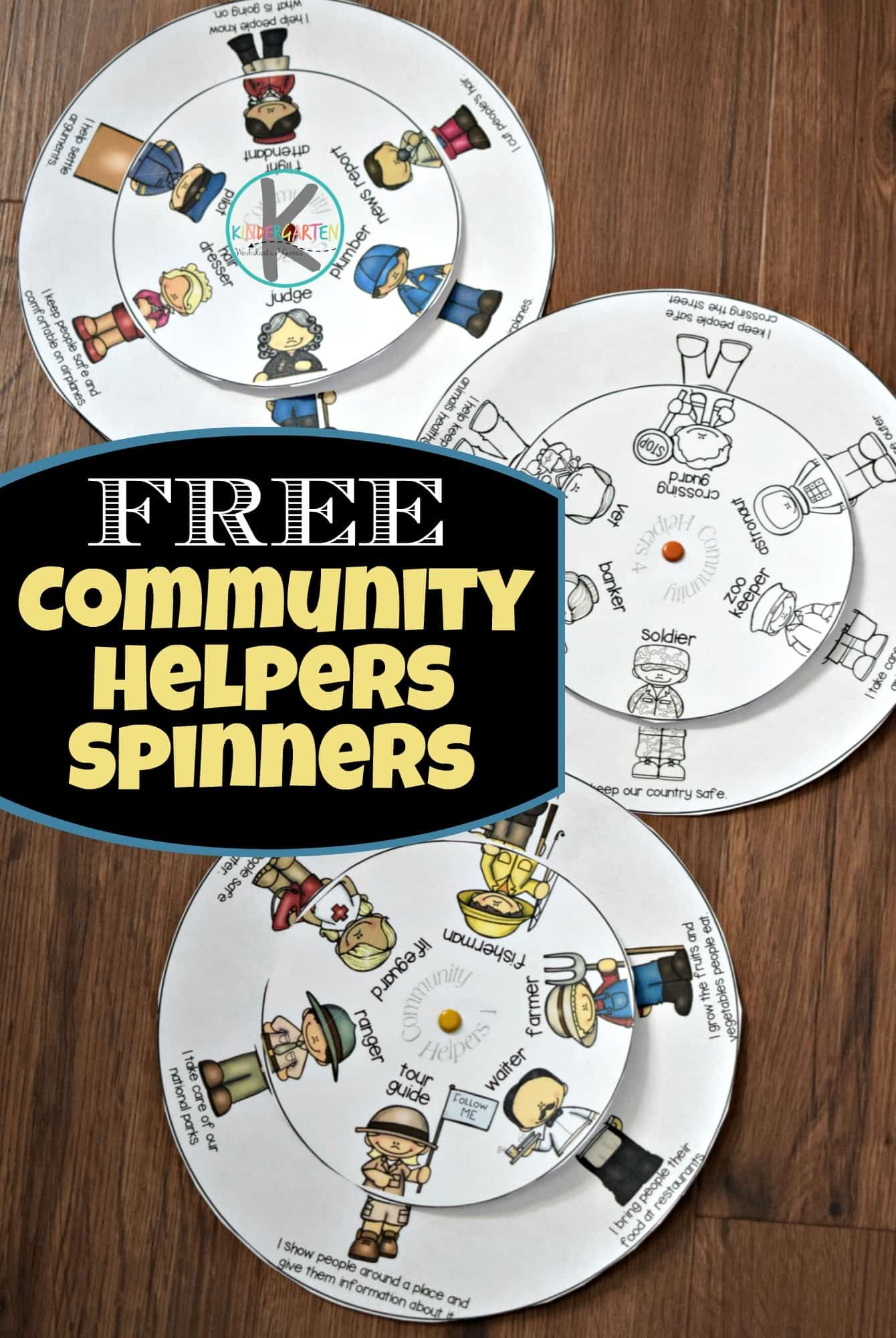 Free Community Helpers Printable Wheel