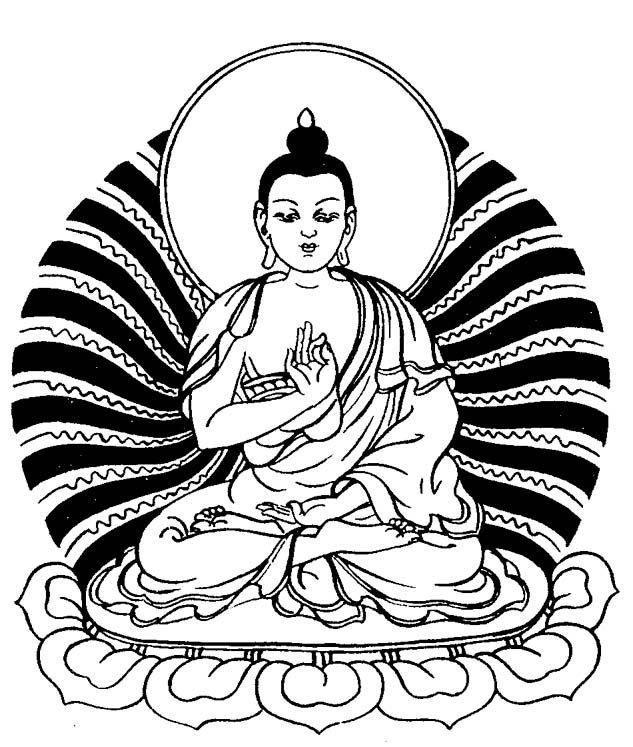 Coloring Page Hindu Mythology Buddha Gods And Goddesses 44