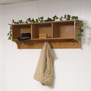 Amish Traditional Hanging Wall Shelf With Storage And Coat Hooks Amish Wall Shelves Small Wall Shelf Wall Shelf With Hooks