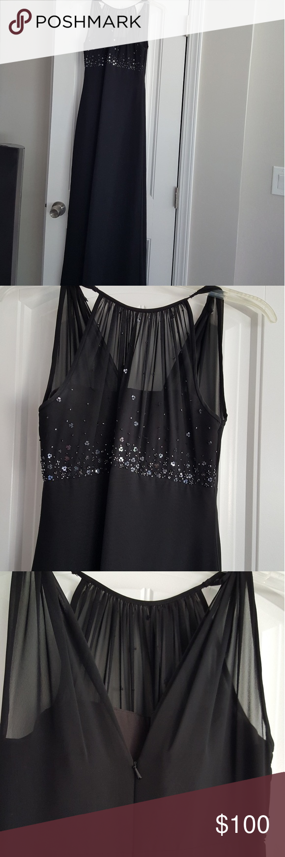 Michaelangelo wedding dress  Michael Angelo long Formal Dress Beautiful sequin sheer top