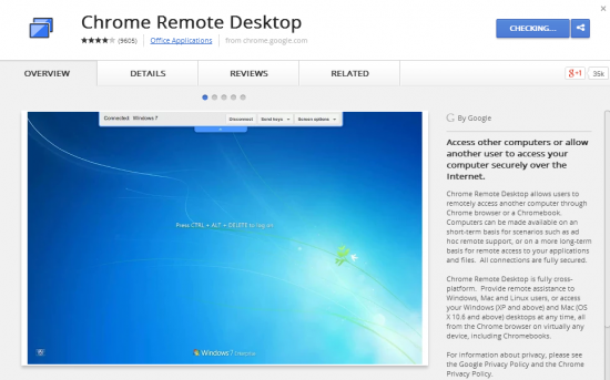 Share Chrome Remote Desktop launched as a Chrome App a