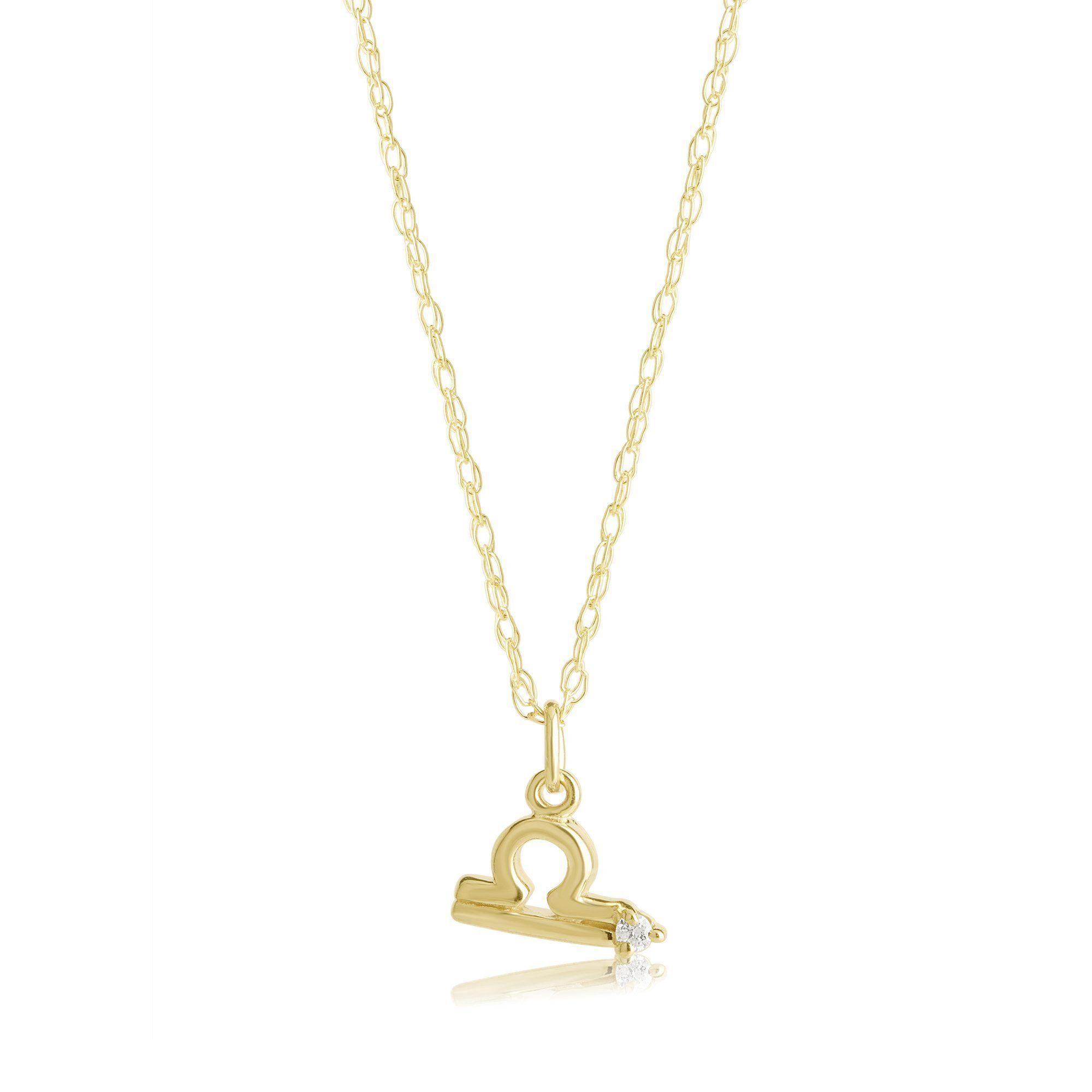 83069a41e Zodiac Charm Necklace with Diamond in 2019 | TB070219 | Diamond ...