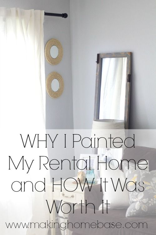How to Paint A Room in Your Rental and Why We Decided To Paint (Olympic Thin Ice)