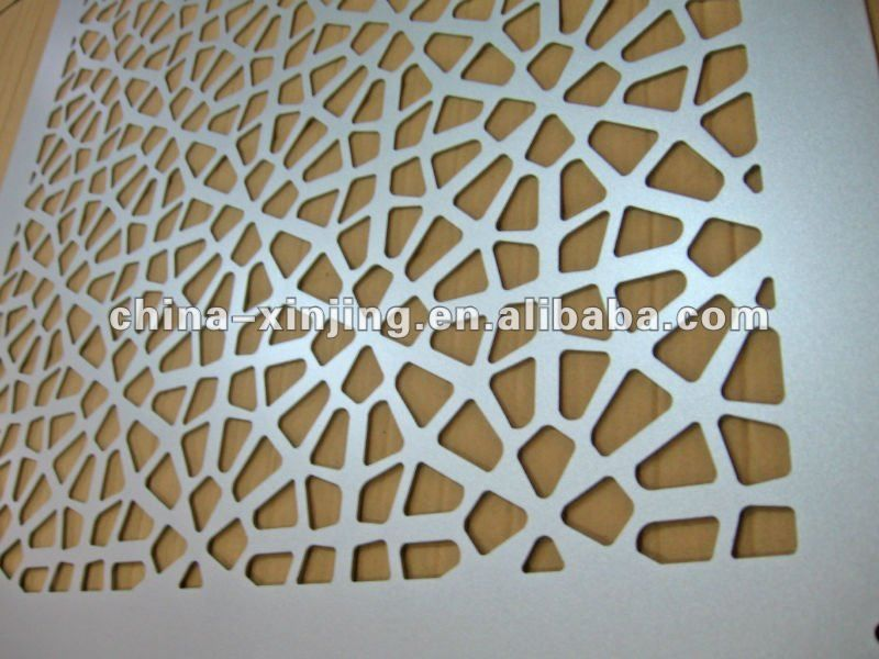 decorative perforated metal screen panel aluminum wall