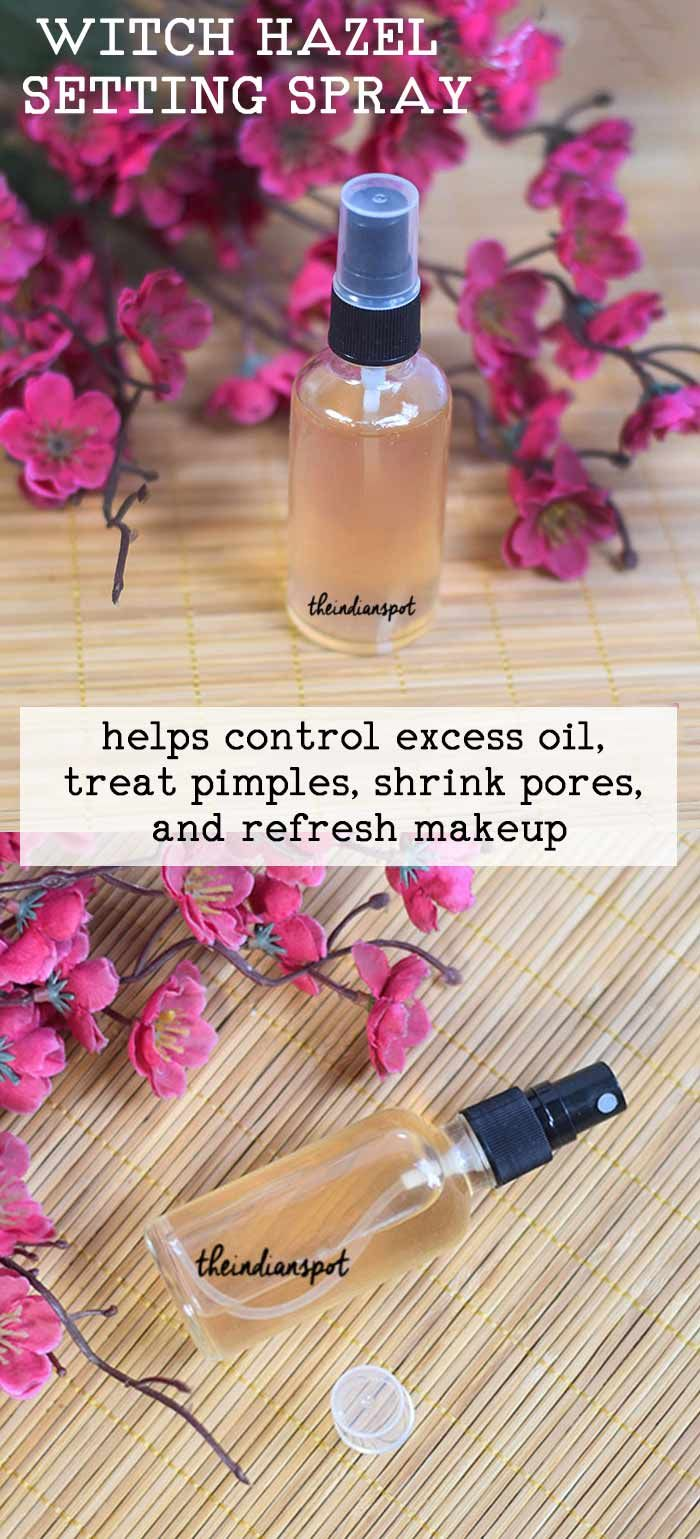 DIY WITCH HAZEL MAKEUP SETTING SPRAY to refresh your
