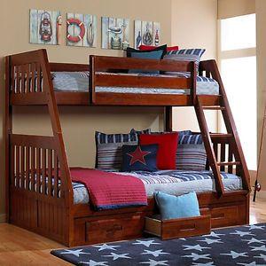 Lit Superposé Simple Double En Bois Massif Lits Matelas Lanaudière Kijiji Bunk Beds Cool Bunk Beds Bunk Beds With Storage