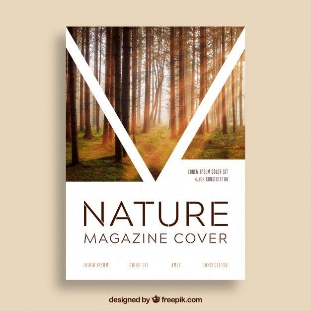 Modèle De Couverture De Magazine Nature Avec Photo | Téléchargez maintenant des vecteurs gratuits sur Freepik