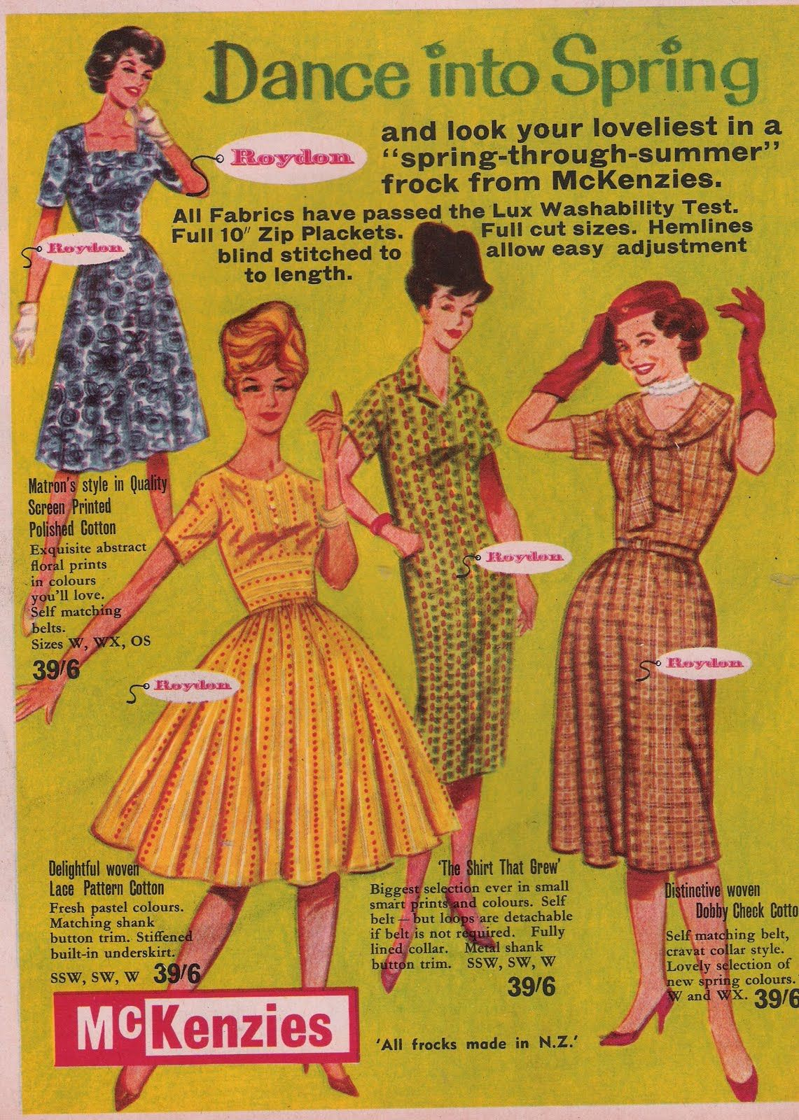 Vintage New Zealand Woman S Weekly Mckensies Was An Iconic Chain Nz Department Store Womans Weekly New Zealand Vintage
