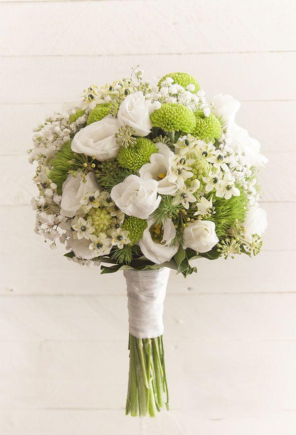 Bouquet Da Sposa Bianco.Bouquet Da Sposa Bianco E Verde Persunit Com Fiori Matrimonio
