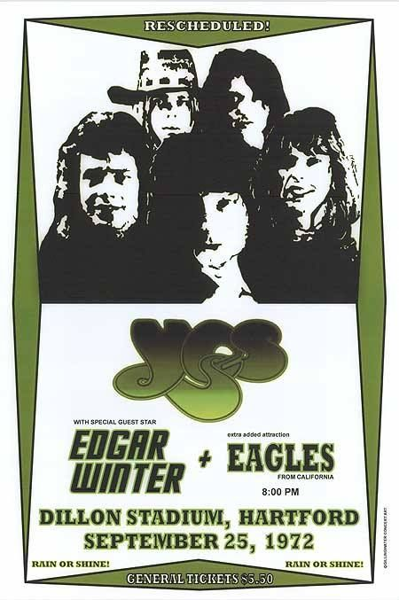 Yes Edgar Winter Eagles Music Concert Posters Concert