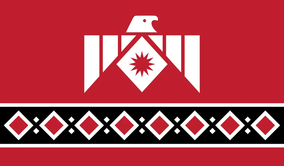 Flag Of The Thunderbird Rebellion A Fictional Coalition Of Native American Tribes That Rebelled Vexillology In 2020 Flag Art Flag Native American Tribes