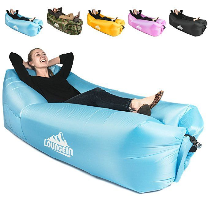 Inflatable Lounger Air Couch Chair Sofa Pouch Lazy Hammock Blow Up Bag Lounge Outdoor At The Beach Or Camping Lay Inflatable Lounger Air Lounger Lounger