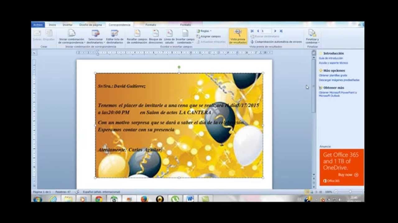 Como Crear Una Invitación En Word Rápido Y Sencillo