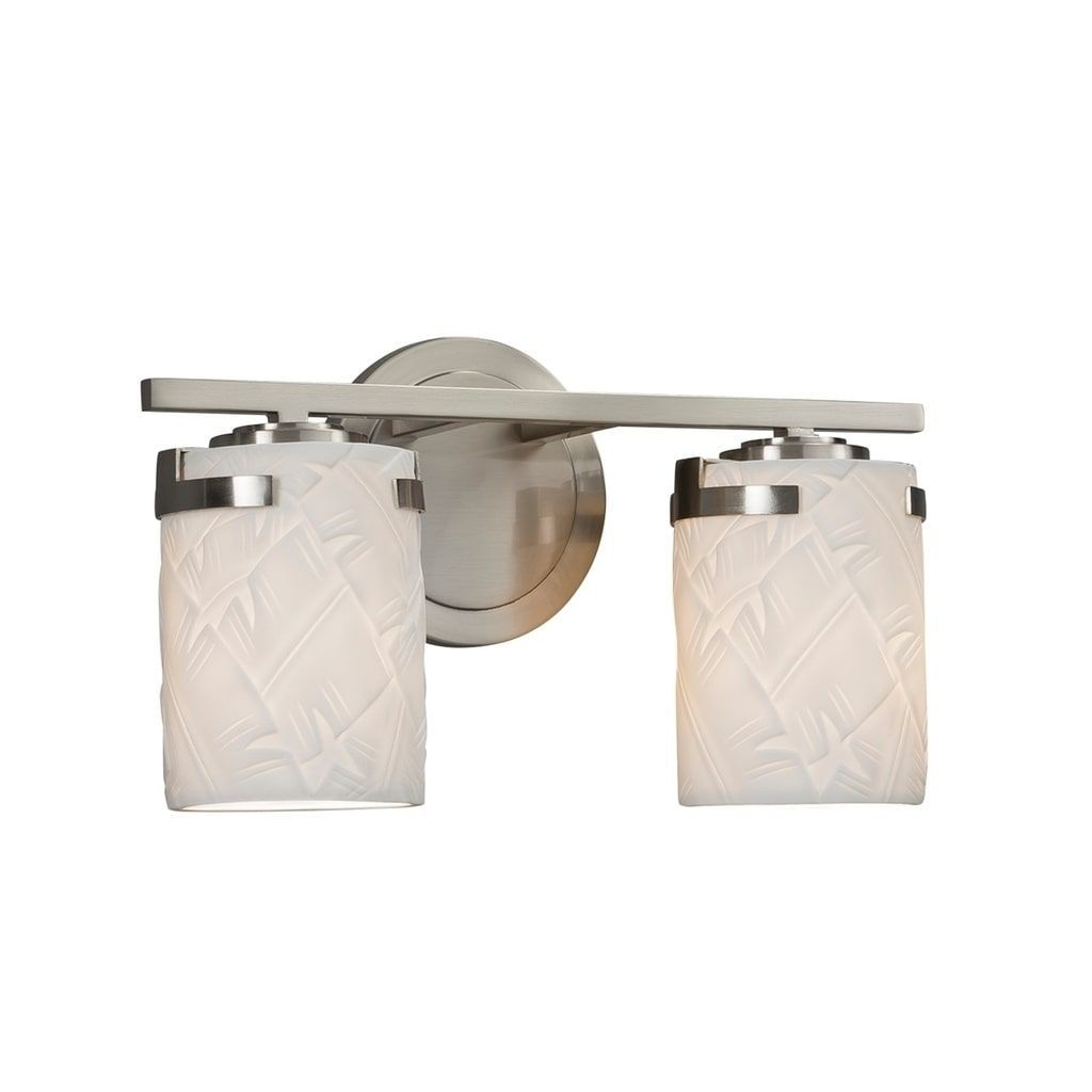 Justice Design Limoges Atlas Brushed Nickel 2-light Bath Bar ...