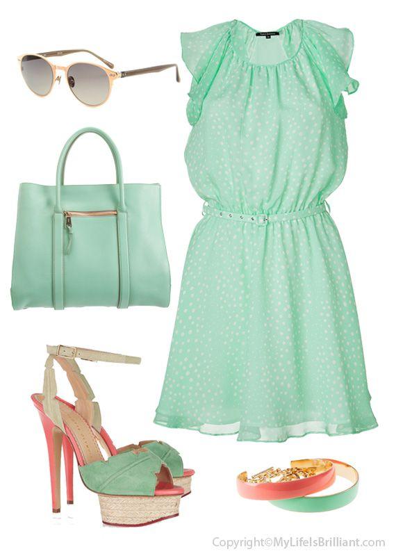 pink & mint green