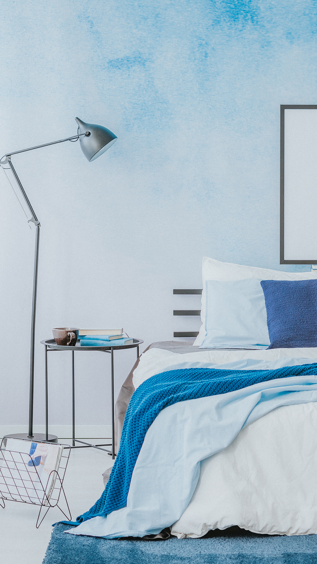 Adding A Splash Of Blue Makes The Room Look Welcoming Friendly And Inviting Homedecor Colo Simple Bedroom Design Asian Paints Colour Shades Bedroom Colors