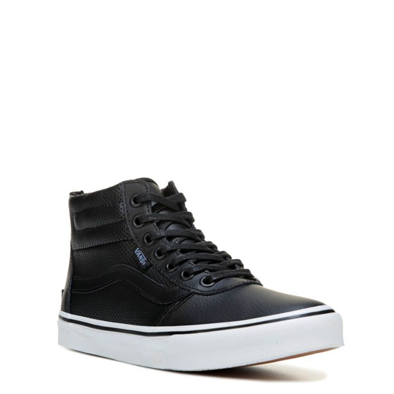 f4ac53bd9c Vans Women s Milton Leather High Top Sneakers (Black Perforated)
