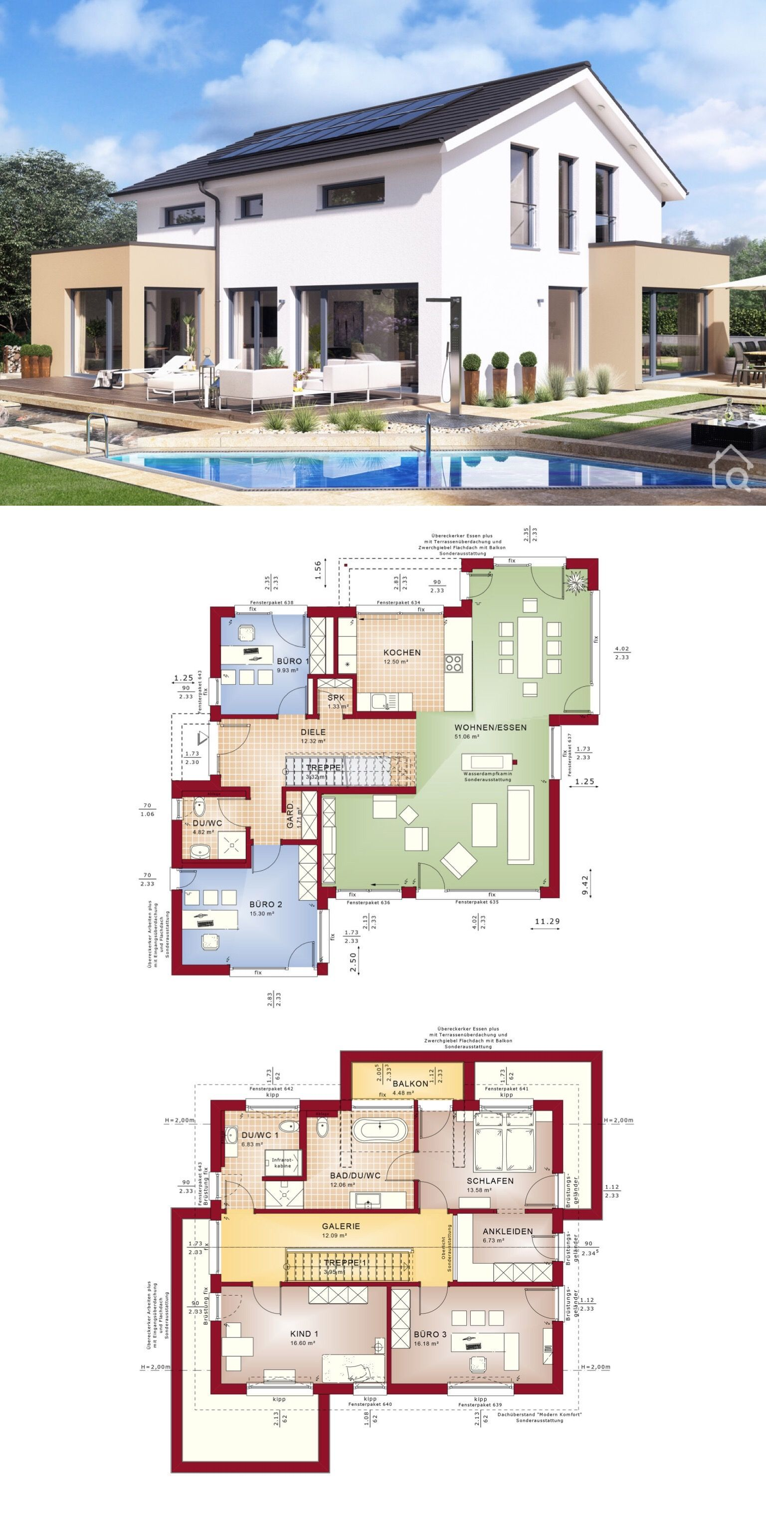 Einfamilienhaus Modern Mit Satteldach Bauen Haus Ideen Mit Grundriss Haus Grundriss Grundriss Einfamilienhaus Haus Design