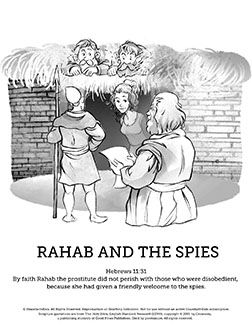 Joshua 2 The Story Of Rahab Sunday School Coloring Pages The