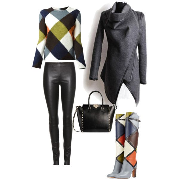 A fashion look from January 2015 featuring Valentino sweaters, The Row leggings and Valentino boots. Browse and shop related looks.