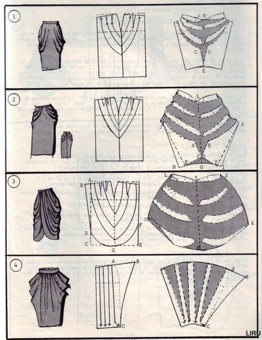 draped skirt pattern - חיפוש ב-Google | sewing | Costura, Patron ...