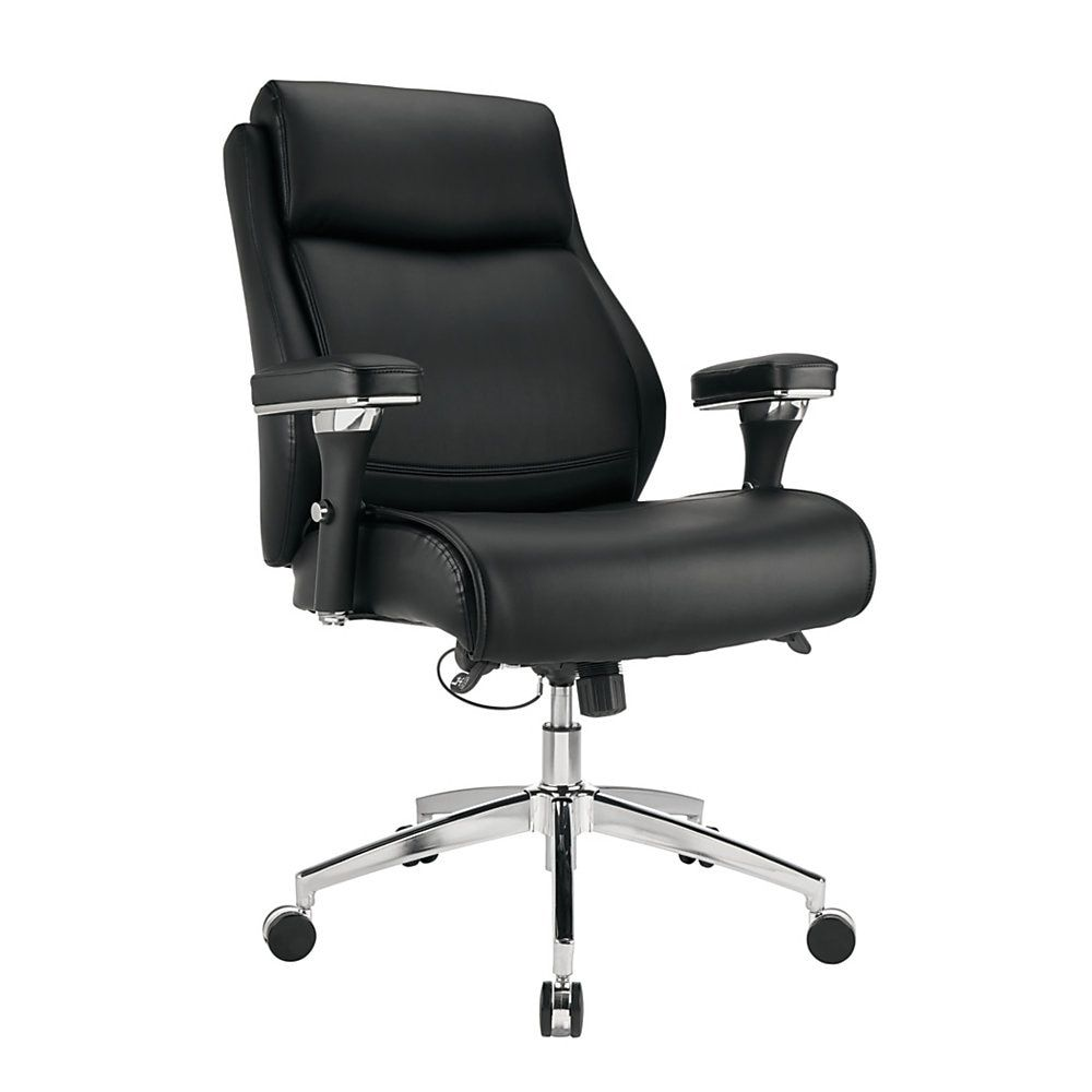 Realspace Modern Comfort Series Keera Bonded Leather Managerial