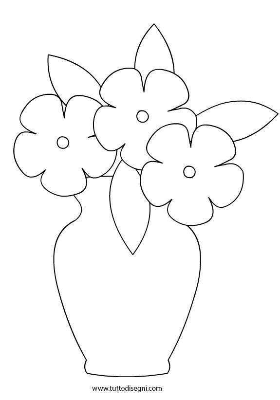 Vaso Con Fiori In Bianco E Nero Tutto Disegni Fiori Disegnati Da Colorare Libri Sensoriali Fai Da Te Disegno Fiori